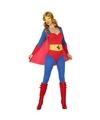Superheldin kostuum blauw/rood voor dames XS/S (34-36) Multi