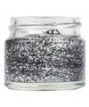 Zilveren gel met glitters