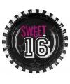 Sweet 16 bordjes voor meiden