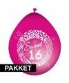 Sweet 16 feestartikelen pakket