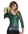 T-shirt St. Patricks day kleding dames M Groen
