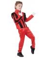 Thriller kostuum voor kinderen 140 - 8-10 jr Rood