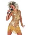 Tina Turner jurk goud 36 (S) Goudkleurig