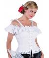 Tiroler blouse met koordje Carmen wit 40 (M) Wit
