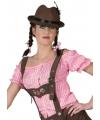 Tiroler blouse roze zonder schouders 40-42 (L/XL) Roze