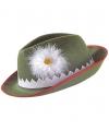 Groene tirolerhoed met bloem