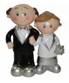 25 jaar getrouwd bruidspaar figuurtje
