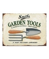 Metalen tuin plaatje 30 x 40 Garden Tools