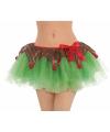 Tutu rokje kerstelf voor dames S Groen
