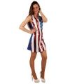 USA jurkje met pailletten 40 (L) Multi