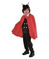 Vampier cape kinderen rood One size Rood