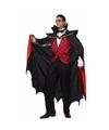Vampier kostuum met mantel heren 52 (L) Multi