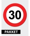 Verkeersbord  30 jaar versiering pakket