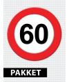 Verkeersbord  60 jaar versiering pakket