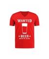 Heren t-shirt Wanted Beer cowboy verkleedkleding