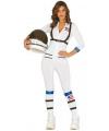 Verkleed kleding astronaut voor dames M/L Wit