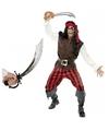 Verkleed piraten outfit voor heren maat M met zwaard M Multi