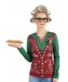 Verkleed t-shirt kersttrui oma dames S Multi