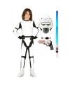 Verkleed witte ruimte soldaat kostuum maat 122-134 voor kinderen One size Wit