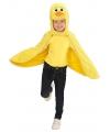 Verkleedcape eend voor peuters One size Geel