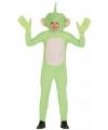 Verkleedkleding alien jumpsuit groen L Groen