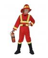 Verkleedkleding brandweerpak kind 158 Rood
