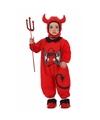 Verkleedkleding duivel voor baby 6-12 maanden Rood