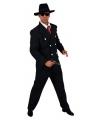 Verkleedkleding gangster heren 56-58 (L) Zwart