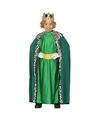 Verkleedkleding koning groen voor kinderen 10-12 jaar (140-152) Groen