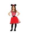Verkleedkleding muizen meisje rood 10-12 jaar (140-152) Rood