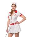 Verkleedkleding verpleegster dames 34 (XS) Wit
