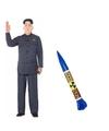 Verkleedset Kim Jong Un voor heren Grijs