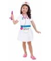 Verpleegster kostuum meisjes 3-6 jaar (98-116) Wit