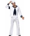 In the navy kostuum Village people