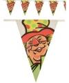 Clown vlaggenlijn voor binnen en buiten