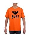 Vleermuis halloween t-shirt oranje voor jongens en meisjes L (146-152) Oranje