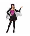 Vleermuizen jurken zwart met paars 38 (M) Multi