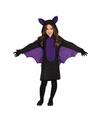 Vleermuizen verkleedkleding voor meiden 5-6 jaar (110-116) Multi