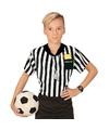 Voetbal scheidsrechter kostuum/ shirt jongens met opdruk 158 (11-13 jaar) Multi