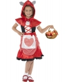 Voordelig roodkapje jurkje voor meisjes 115-128 (4-6 jaar) Rood