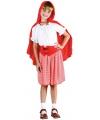 Voordelig roodkapje kostuum voor meisjes 140 - 8-10 jr Rood