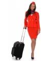 Voordelige stewardessen kostuum rood 38 (M) Rood
