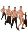 Wegtrek broek voor strippers XL Zwart