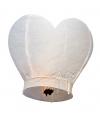 Hartvormige wensballon wit 100 cm