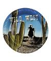 Western bordjes 6 stuks