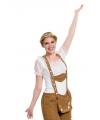 Wit Beieren shirtje voor dames S/M Wit