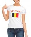 Belgische vlag t-shirt voor dames