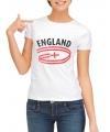 Engeland t-shirt voor dames met vlaggen print