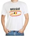 Belgie t-shirt met vlaggen print heren