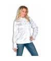 Wit overhemd met rouches 42 (XL) Wit